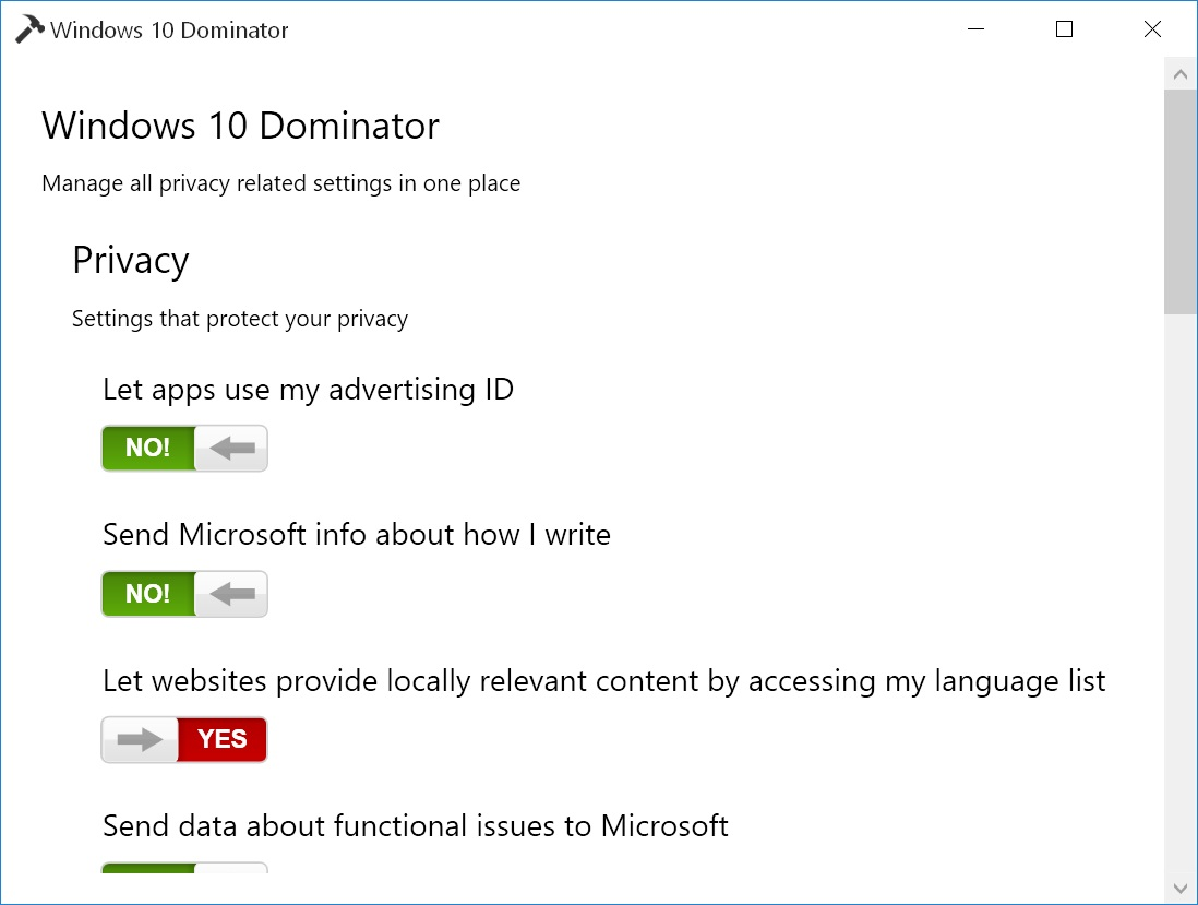 Windows 10 Dominator Screenshot