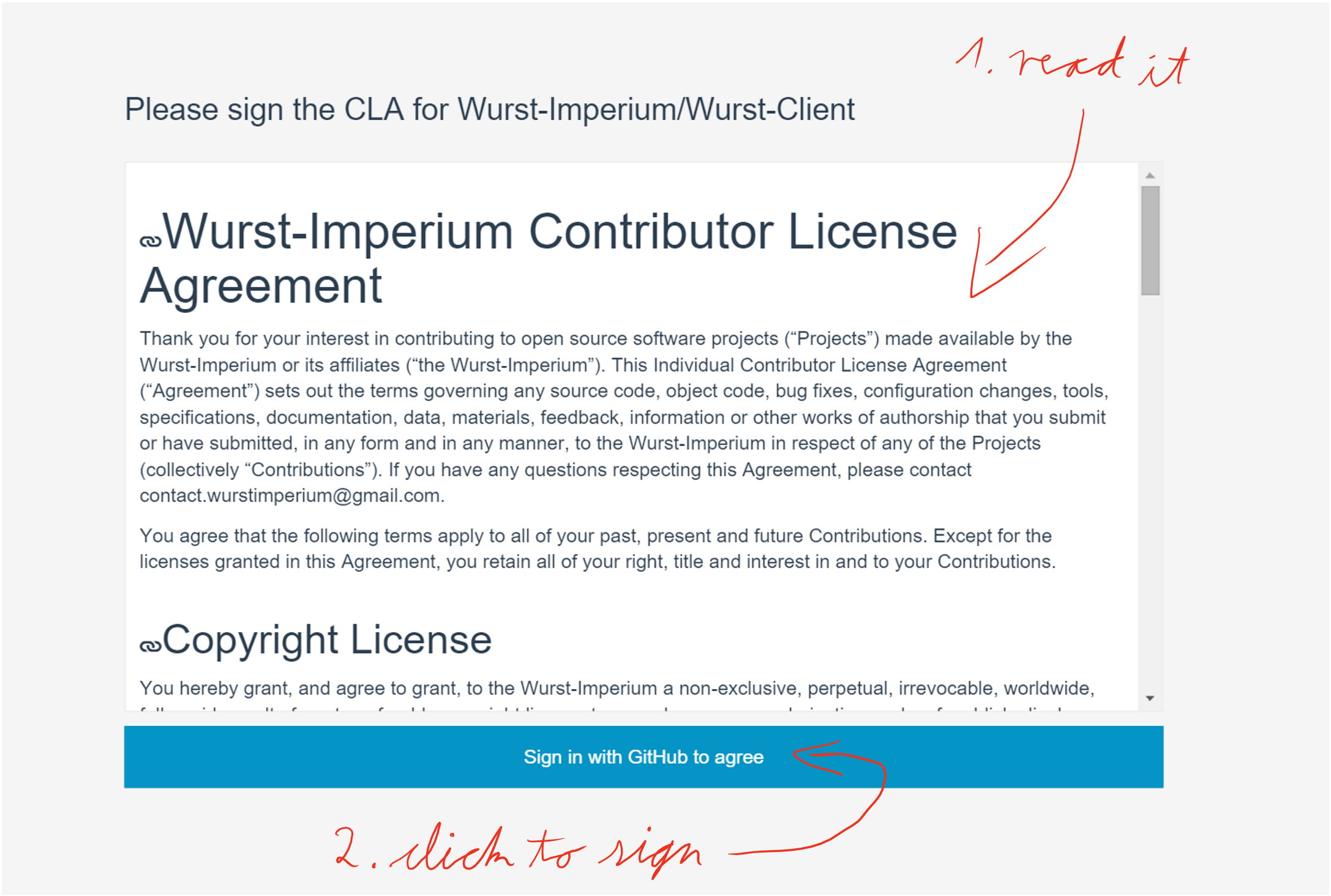 Contributor License Agreement of Wurst-Imperium/Wurst-Client