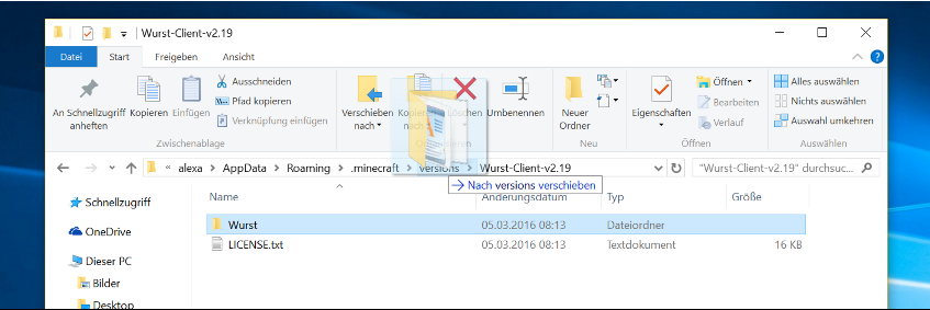 move Wurst folder into versions