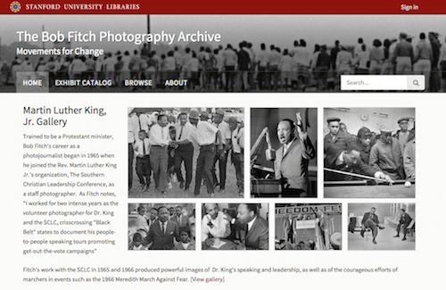 The Bob Fitch Photography Archive Spotlight exhibit