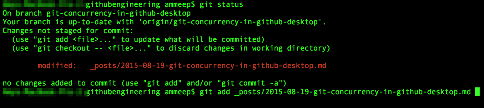 Commands are executed in serial, on the command line