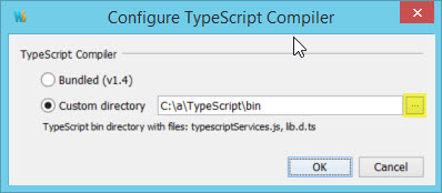 webstorm typescript settings compiler selection