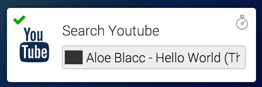 Search YouTube action