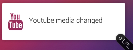 YouTube media change trigger