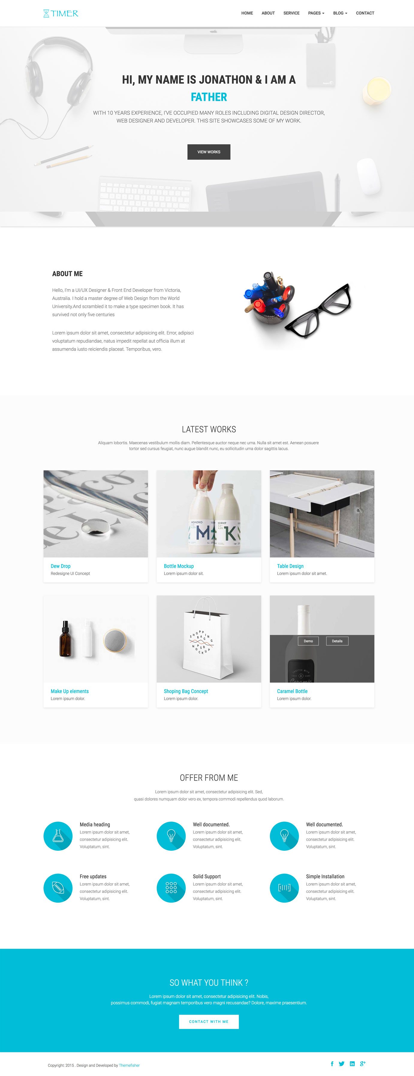 Free bootstrap business template by themefisher