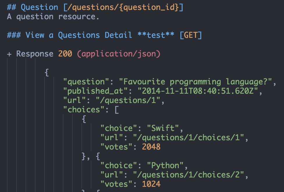 API Blueprint Atom Screenshot