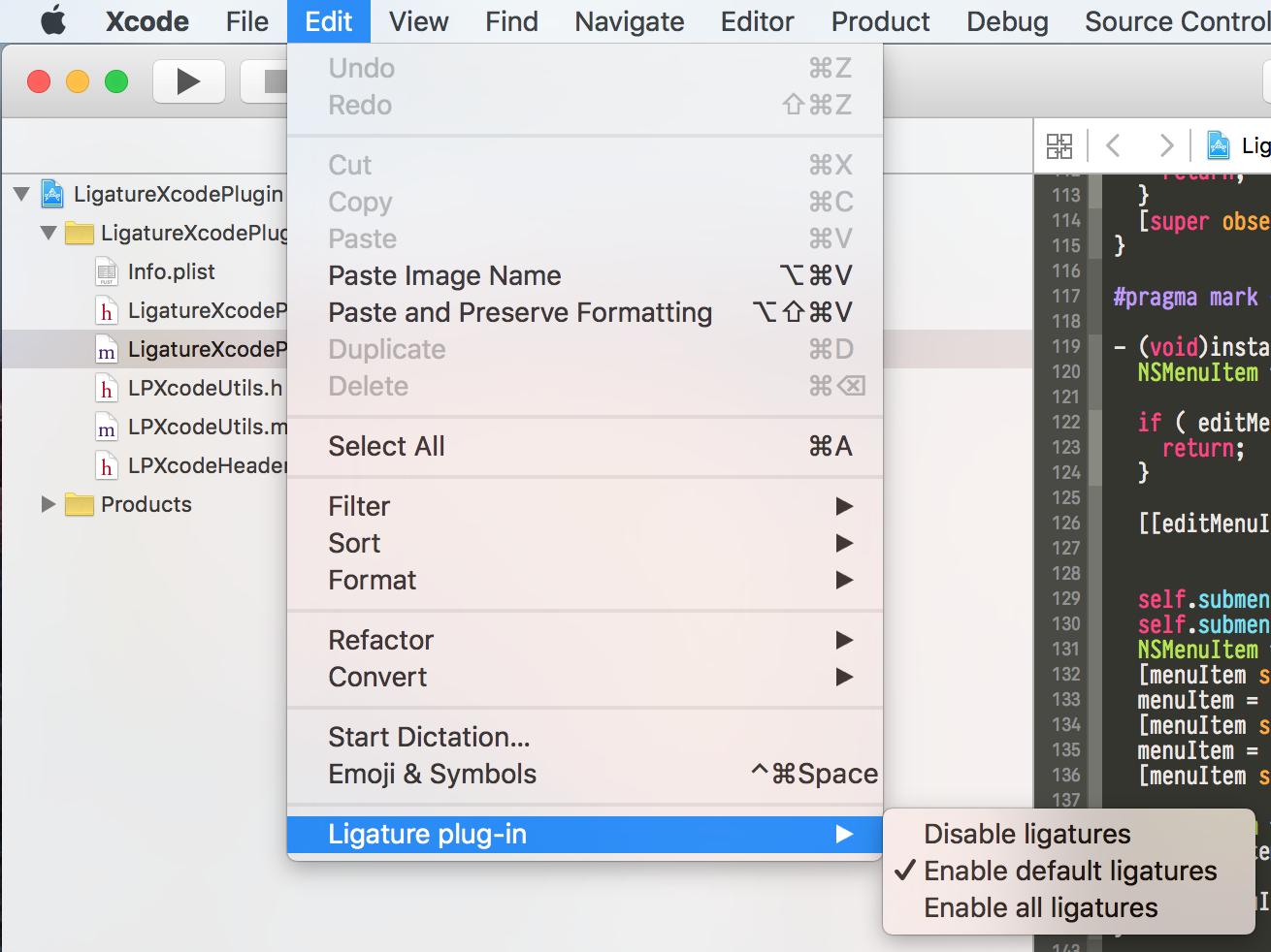 edit-ligature-plugin