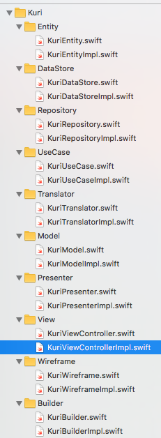 bannzai/Kuri: Automatically generates necessary code for iOS CleanArchitecture and imports it into Xcode project\.