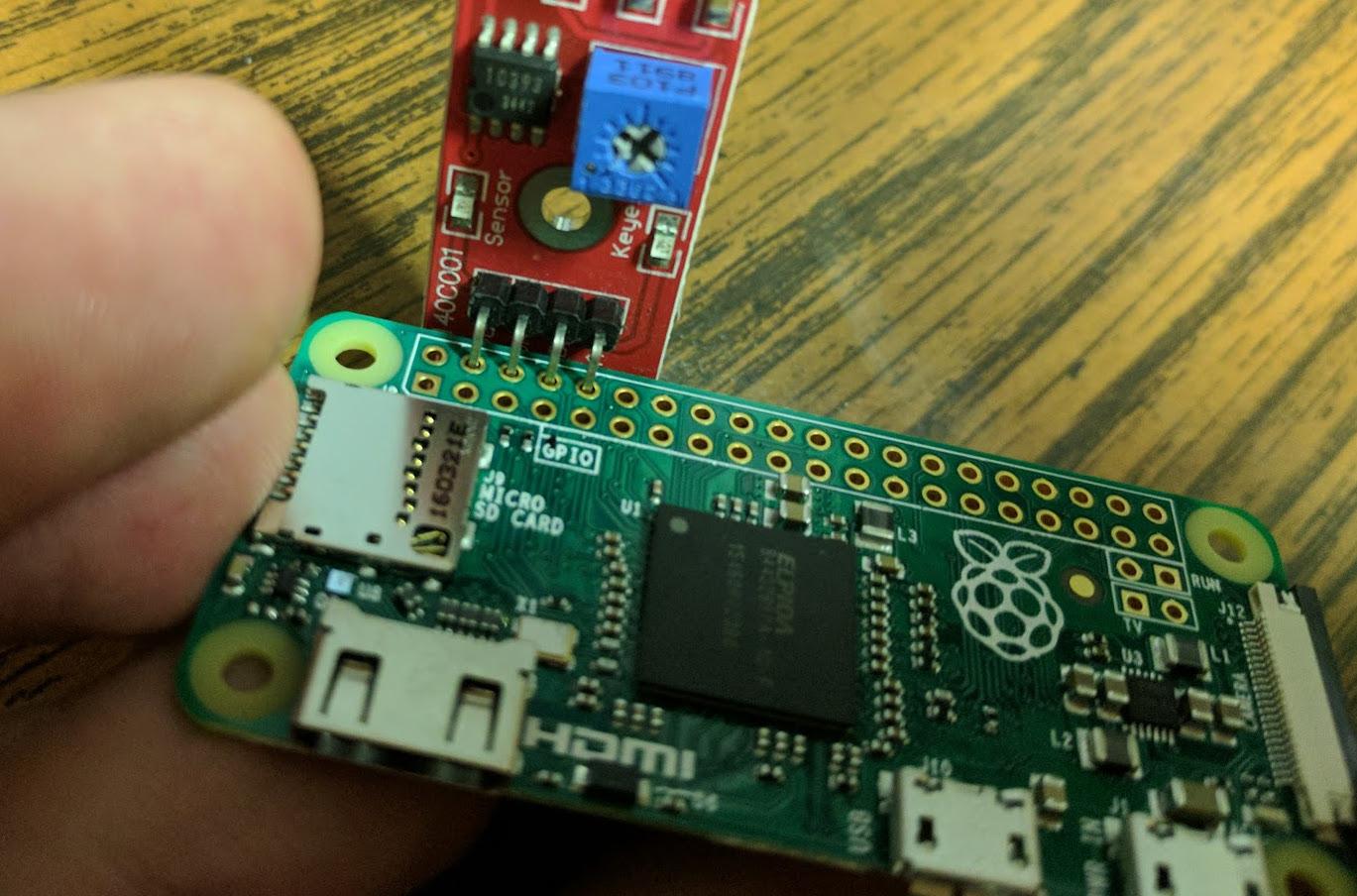 Sensor inserted
