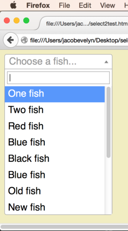 When a scroll bar would obscure the dropdown