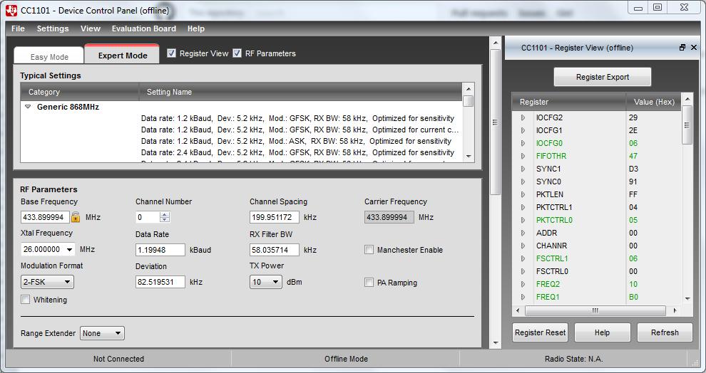 cc1101-smartrf-settings