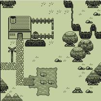 Screenshot using 2-bit tileset by Muziak