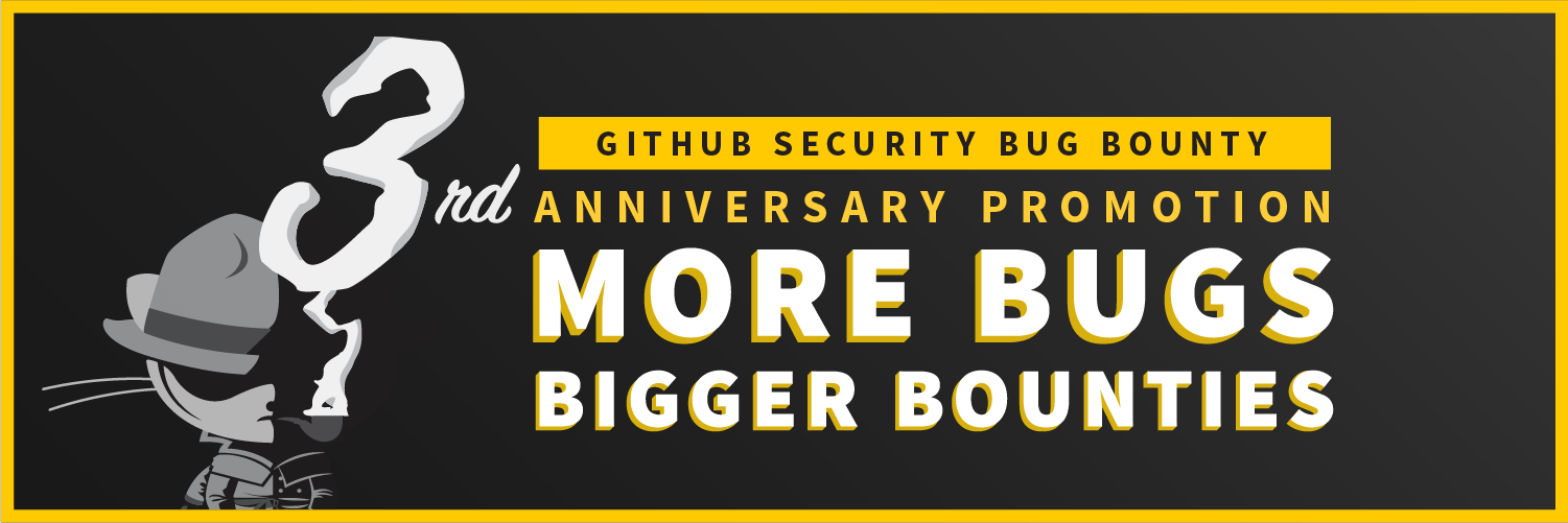 Wrapping up GitHub Bug Bounty Third Year Anniversary Promotion