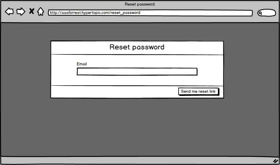 Mot de passe oublié