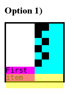 Status of the grid following option 1