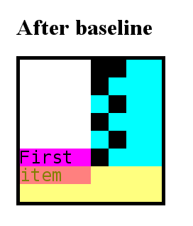 Status of the grid when we apply baseline alignment