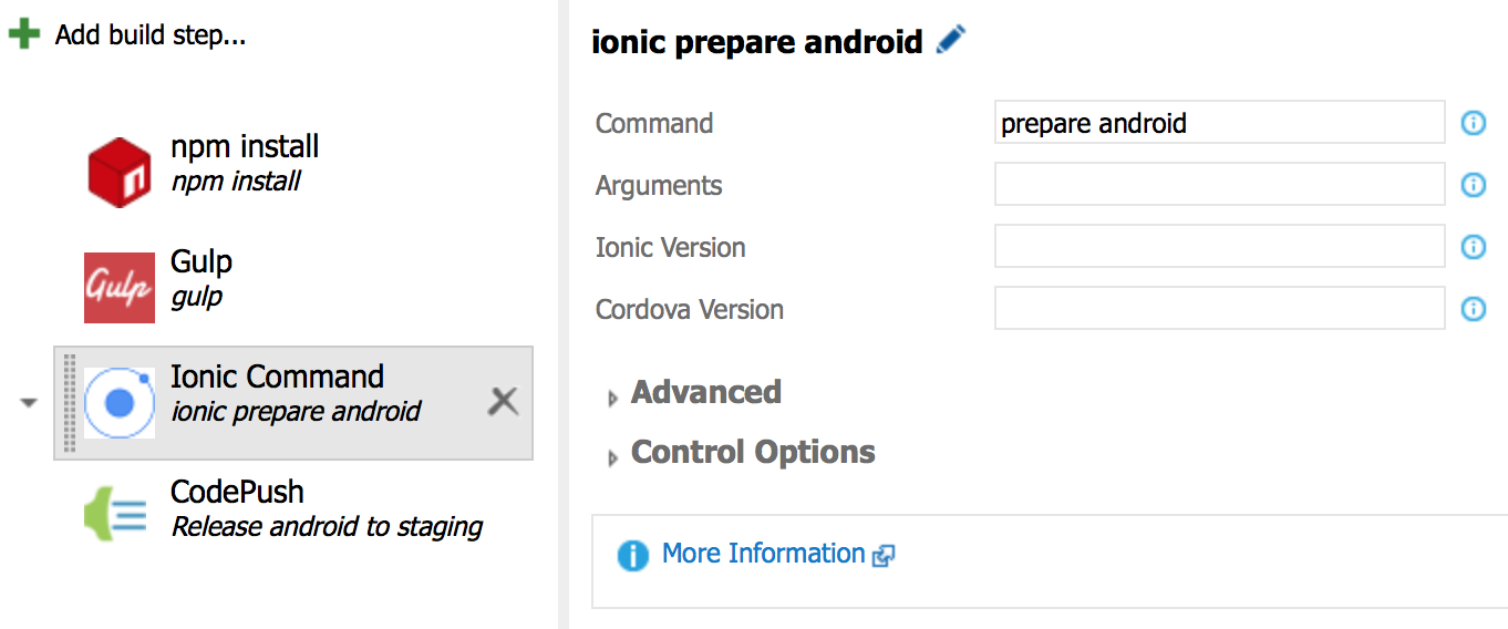 Ionic Command Task