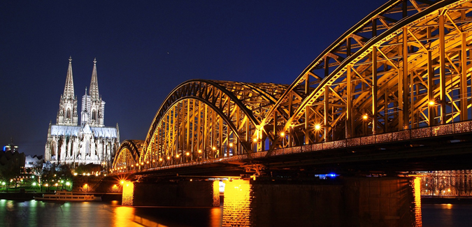 Kölner Dom and Hohenzollernbrücke in Germany