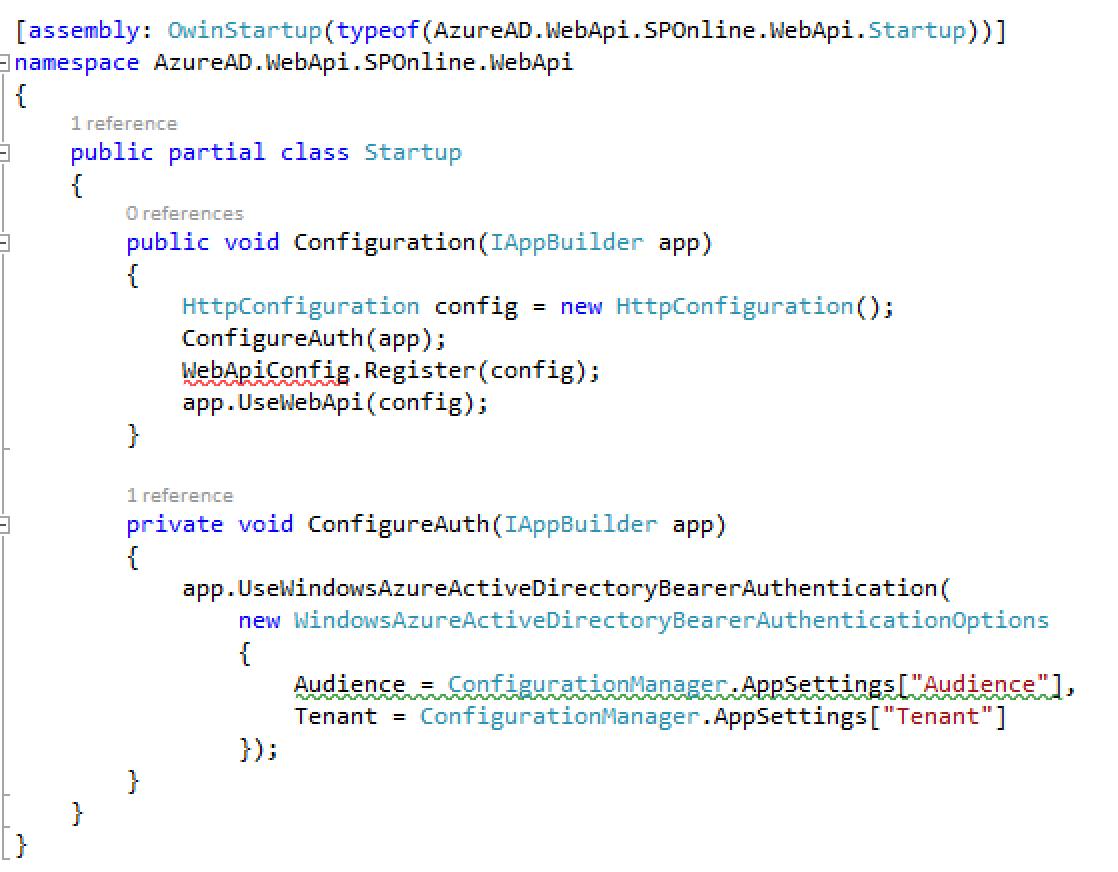 Owin Startup Class Code