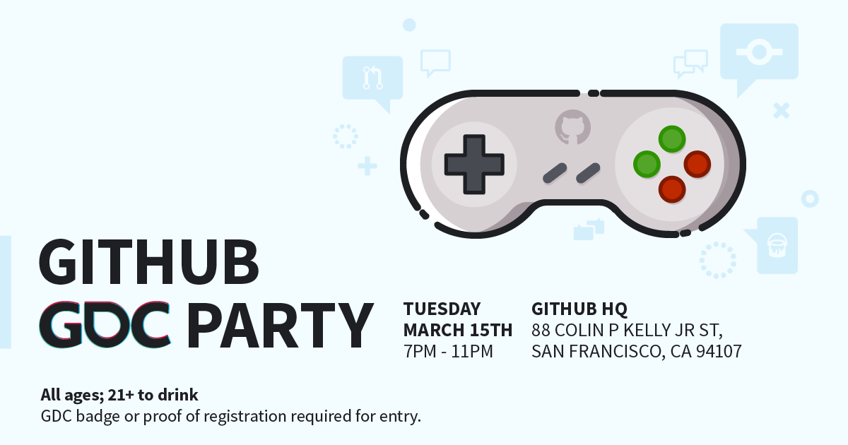 GitHub GDC Party 2016