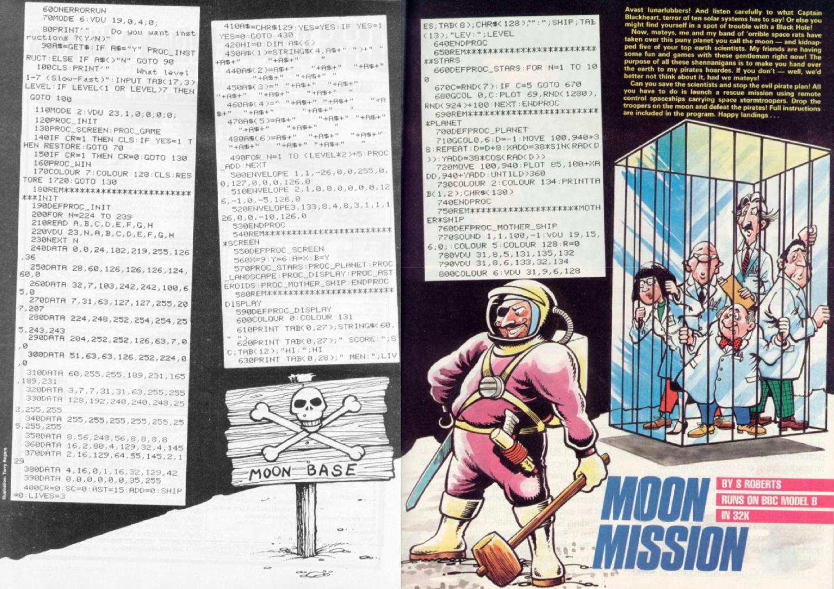 Moon Mission code listing