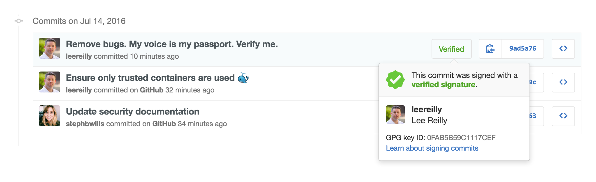 gpg sign your git commits on GitHub