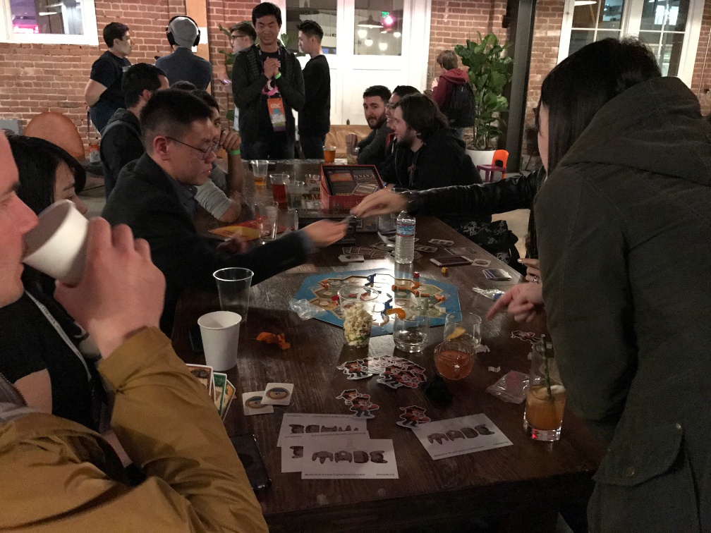 Board Games at the GitHub GDC Party 2017