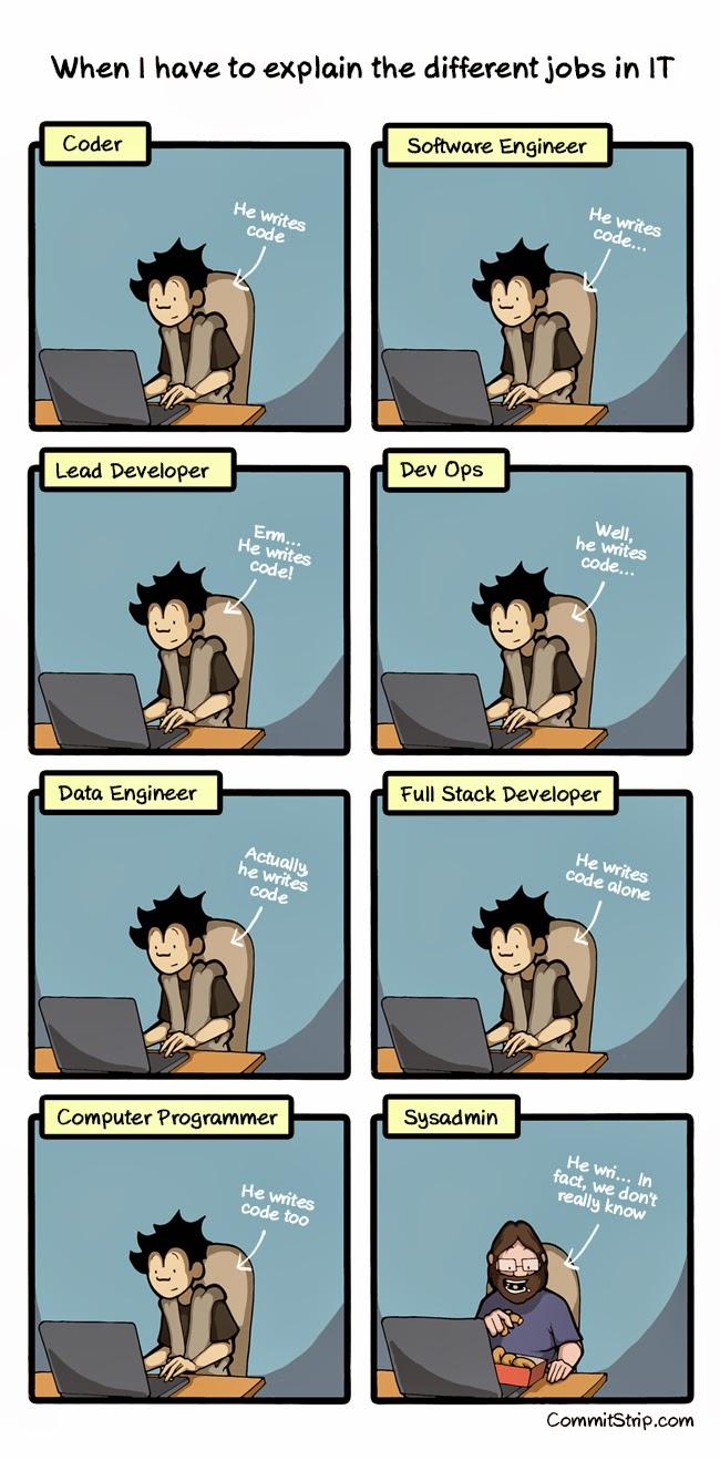Explain Different IT Jobs