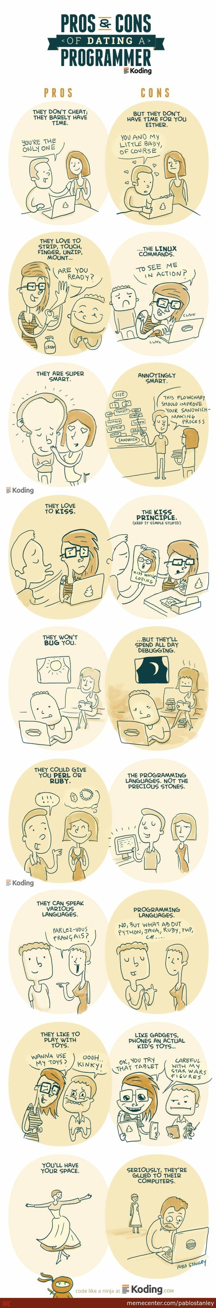 Dating a Programmer - Pro & Cons