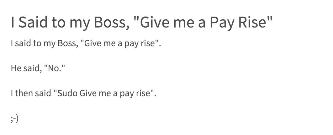 Sudo Pay Rise