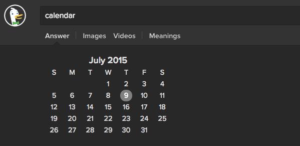 Display Calendar