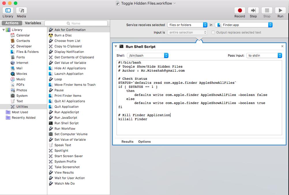 MAC OS X - Show/Hide Hidden Files in Finder