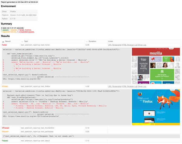 Enhanced HTML report