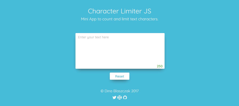 Character Limiter JS