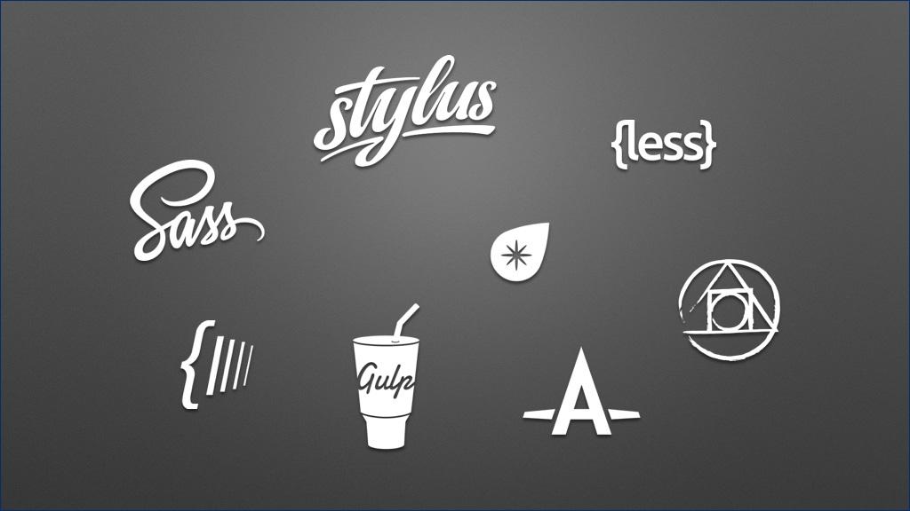 Sass、Stylus、Less、PostCSS 等 logo