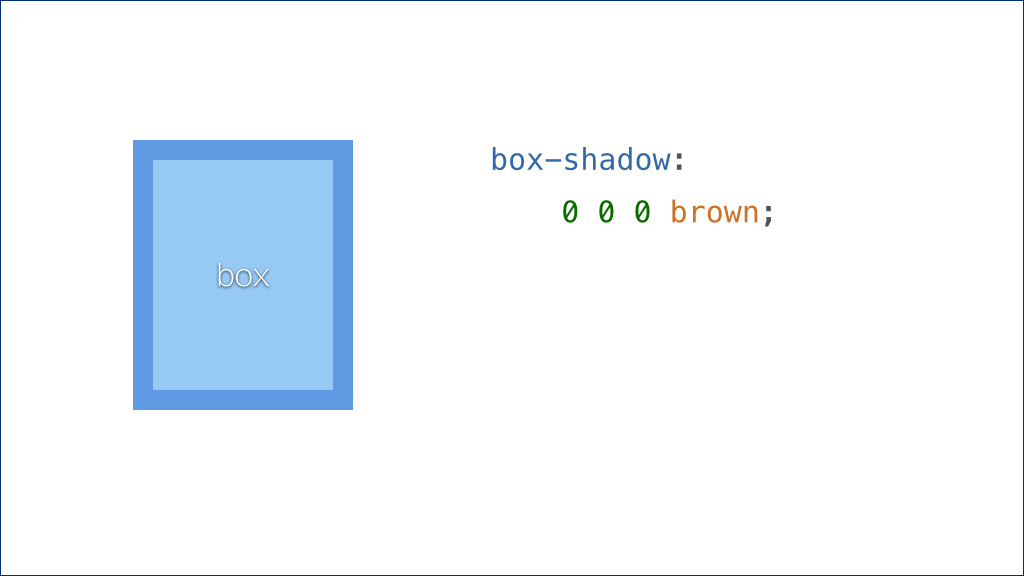 box-shadow: 0 0 0 brown;