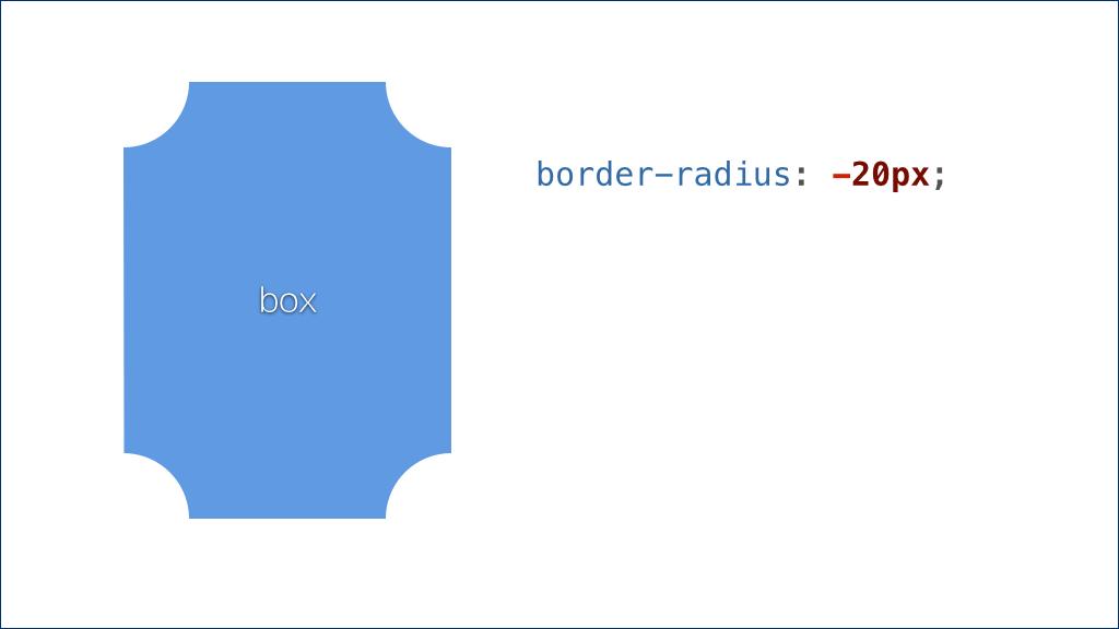 圆角矩形与 border-radius: -20px;