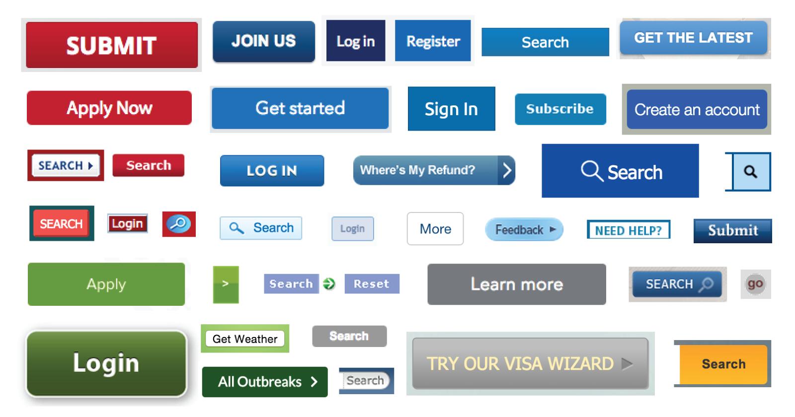 Buttons across federal websites