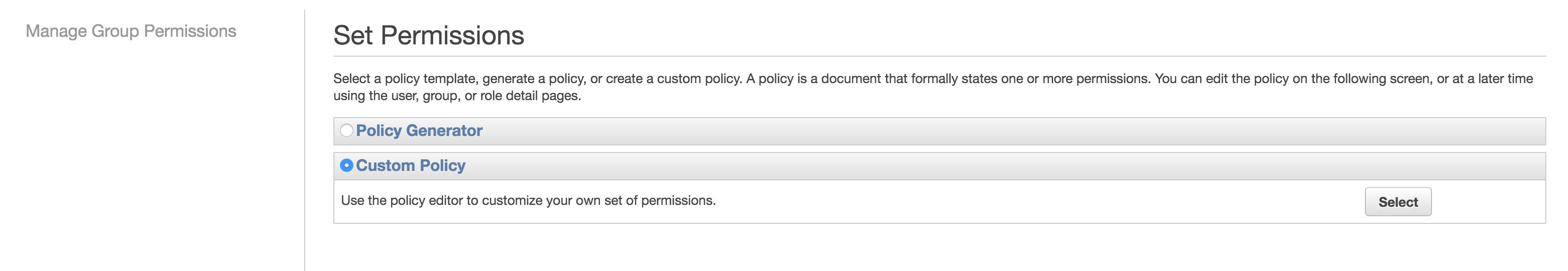 custom policy
