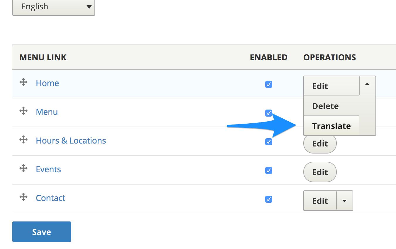 Translate custom menu links