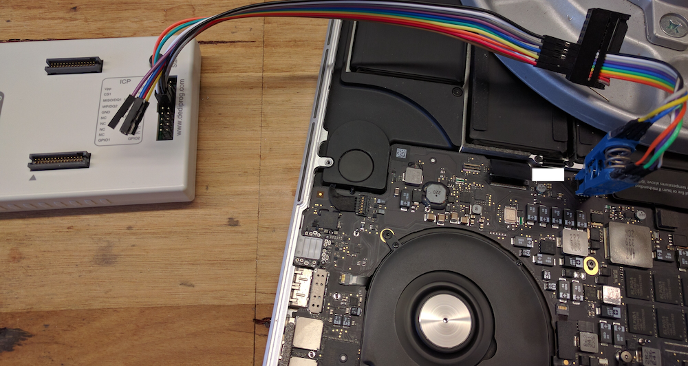 Using a Dediprog SF600 to dump and flash a 2013 MacBook SPI Flash chip to remove a firmware password, sans Apple