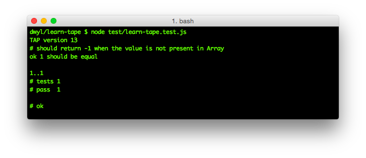 your-first-tape-test-passing