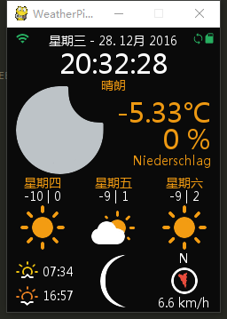 WeatherPi_TFT in Chinese