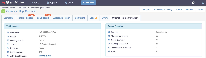 Original Test Configuration