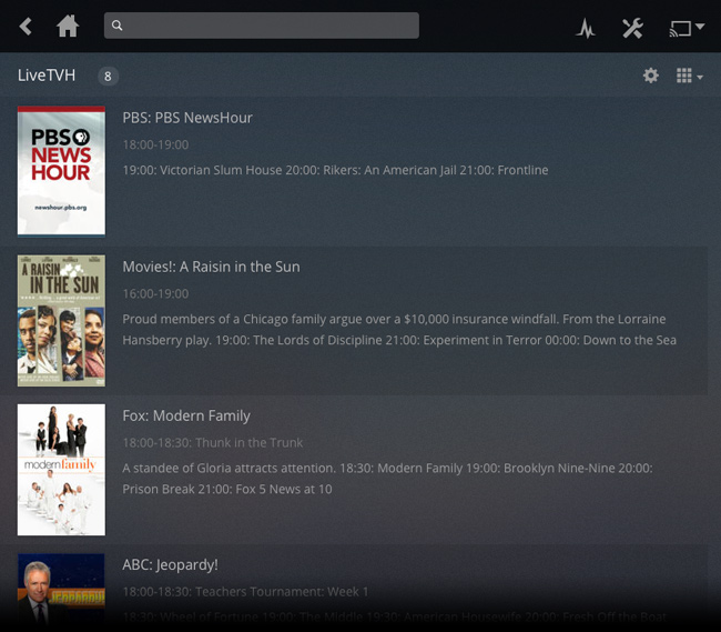 Plex Web Screenshot