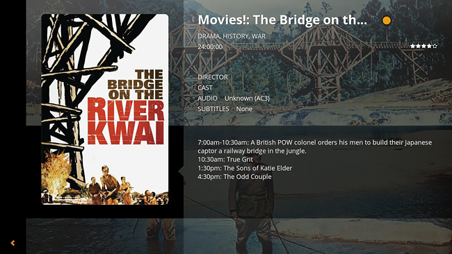 Plex Home Theater Screenshot