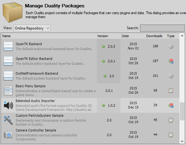 Duality Package Manager
