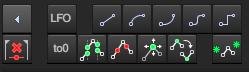 此工具栏包含包络的相关操作