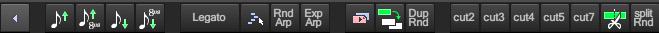 此工具栏包含修改音符的相关操作