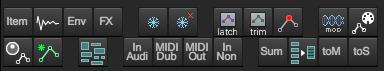 此工具栏包含一些音轨范围的操作,以及至其他工具栏的跳转